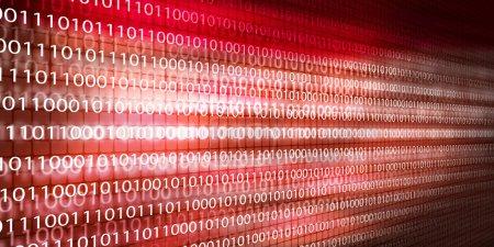 Photo pour Image de fond conceptuelle avec code binaire. Concept de sécurité - image libre de droit