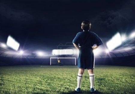 football player on stadium