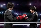 businessmen with boxing gloves