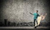 Skater boy on skateboard