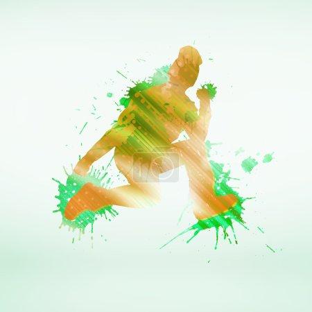 silhouette colorée de danseuse