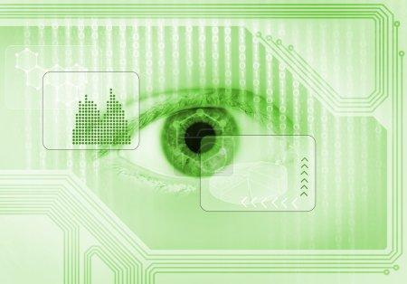 human eye on digital binary