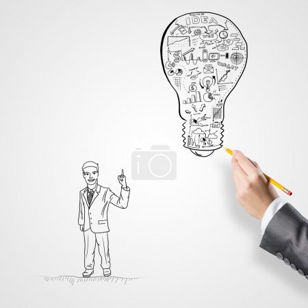 hand drawing business strategy
