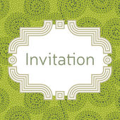 Invitation wedding or greeting card template Elegant frame ove