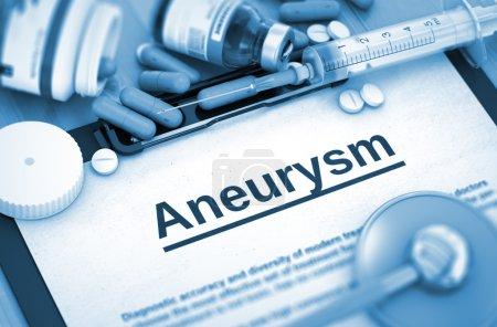Aneurysm. Medical Concept.
