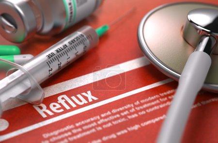 Diagnosis - Reflux. Medical Concept.