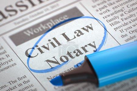 Civil Law Notary Job Vacancy.