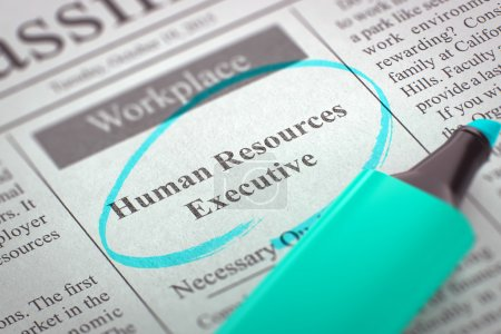Job Opening Human Resources Executive.
