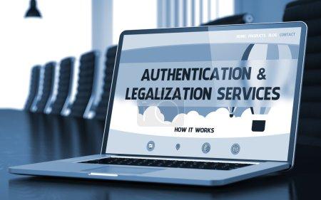 Authentication and Legalization Services Concept. 3D.