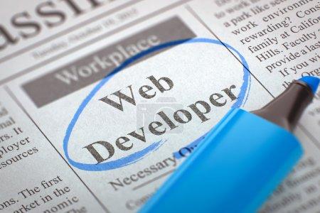 Were Hiring Web Developer. 3D.
