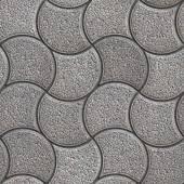 Grijze stenen in golvende vorm