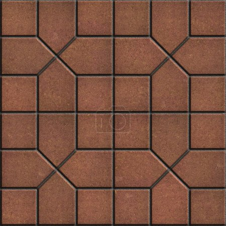 Photo for Brown Pavement Slabs Laid in Pattern. Seamless Tileable Texture. - Royalty Free Image