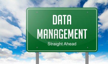 Data Management on Green Highway Signpost.
