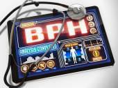 BPH na displeji lékařské Tablet