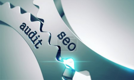 Seo Audit Concept on the Cogwheels.