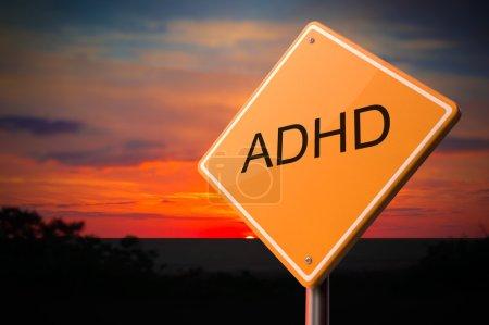 ADHD on Warning Road Sign