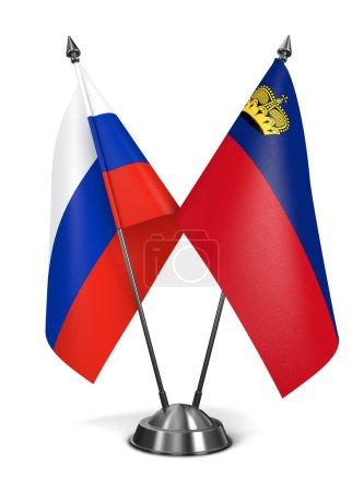 Russia and Liechtenstein - Miniature Flags.