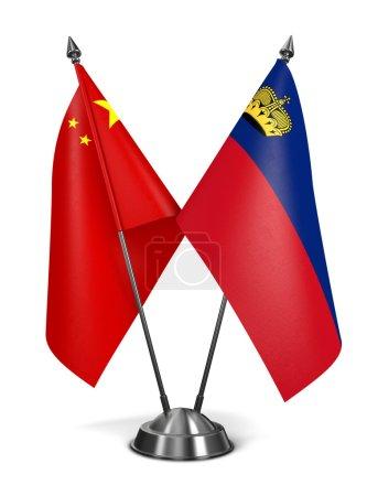 China and Liechtenstein - Miniature Flags.
