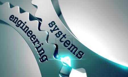Photo pour Ingénierie des systèmes sur le mécanisme des engrenages métalliques - image libre de droit
