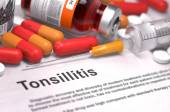 Tonsillitis Diagnosis. Medical Concept.