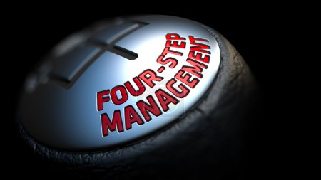 Four-Step Management on Cars Shift Knob.