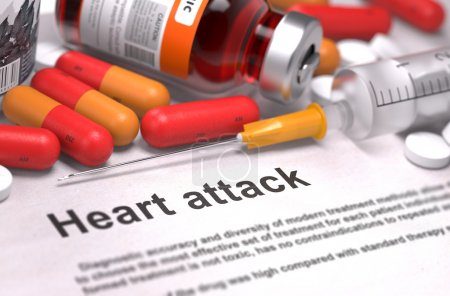 Diagnosis - Heart Attack. Medical Report with Comp...