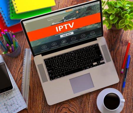 IPTV. Office Working Concept.