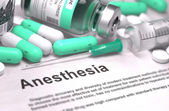 Anesthesia. Medical Concept with Blurred Background.