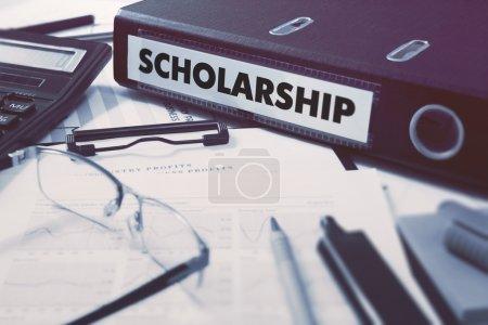 Scholarship on Office Folder. Toned Image.