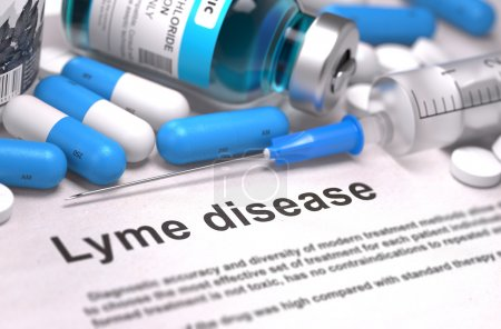 Lyme Disease Diagnosis. Medical Concept.