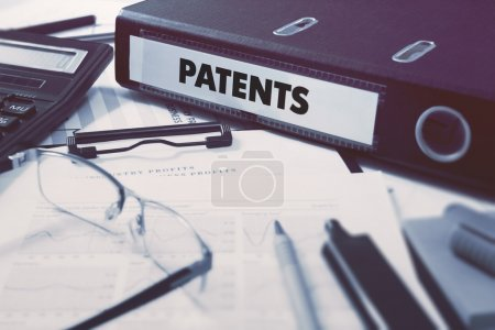 Office folder with inscription Patents.