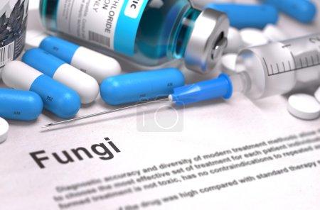Fungi Diagnosis. Medical Concept. Composition of Medicaments.