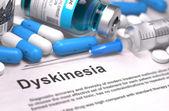 Diagnose - Dyskinesie. Medizinische Konzept. 3d übertragen