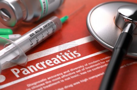 Diagnosis - Pancreatitis. Medical Concept on Orang...