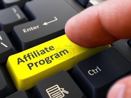 Affiliate Program - Written on Yellow Keyboard Key.