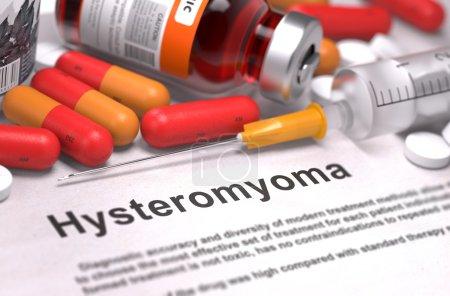 Diagnosis - Hysteromyoma. Medical Concept. 3D Render.