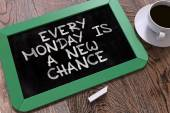 Every Monday is a New Chance. Inspirational Quote.