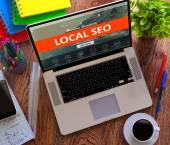 Lokale Seo. Internet-Marketing-Konzept