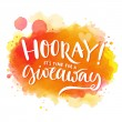 Hooray, it's time for a giveaway. Banner for socia...