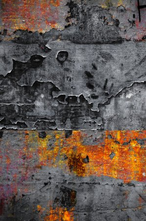 Old colorful rusty metallic surface