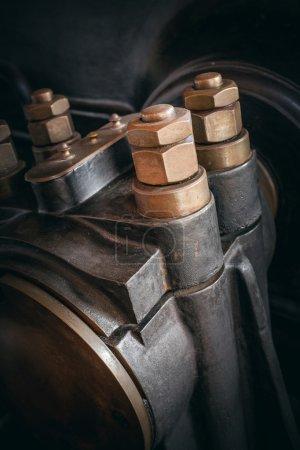 Photo pour Détail d'une machine mécanique industrielle vintage - image libre de droit