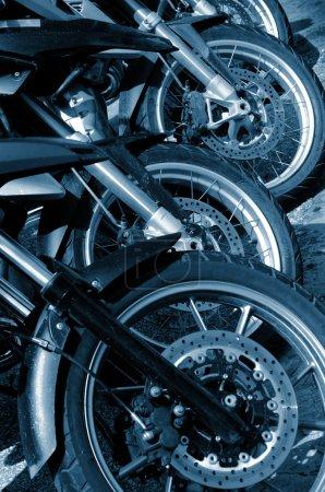 Detail of Motorbike Wheels