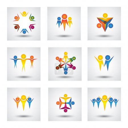 People, community, kids vector icons and design elements