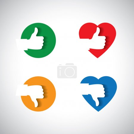 Approval like confirmation & ok icon,  - vector concept.