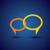 Chat or talk symbol or speech bubble - concept vector line icon