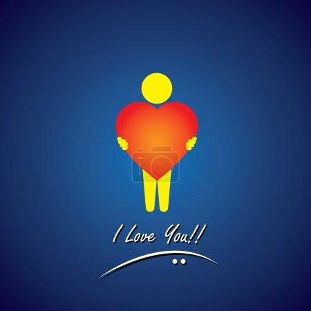 Vector icon of love, compassion, empathy & care