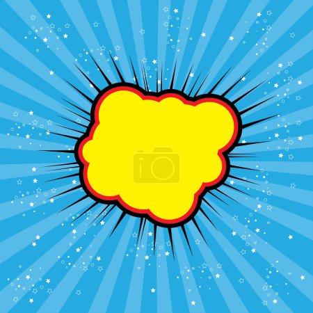 pop art text bubble cloud, illustration in vector format