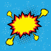 Výbuch páry bublina pop artu vektor - legrační funky nápisu comic
