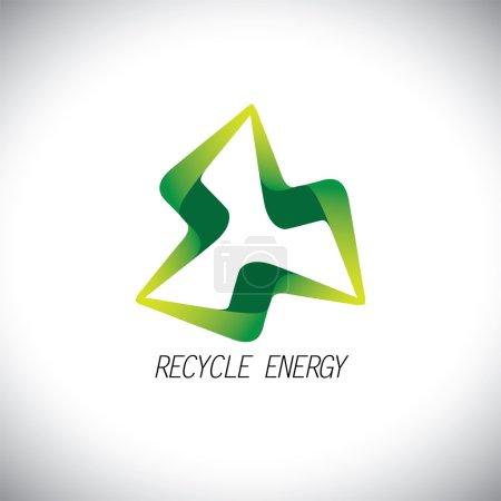 Eco recycle concept power icon design vector logo