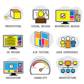 Line vector design of user interface   user experience concepts